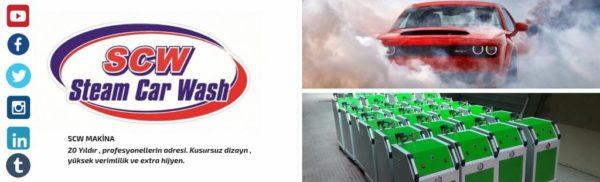 Steam car wash machines
